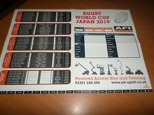 Rugby World Cup Japan 2019 Wallchart