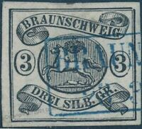 Germany Braunschweig Mi8 Used 3Gr Running Stag 4 Margin 91787
