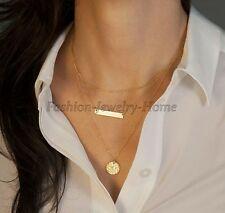 Women Jewelry Gold Chain Choker Chunky Statement Bib Necklace Pendant