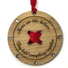 Mums are like buttons, mothers day gift, wooden button plaque in gift box