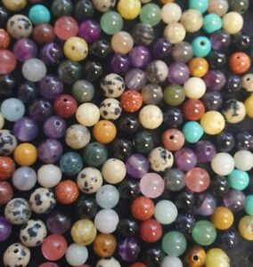 6mm Semi Precious Gemstone Round Beads - 28 to Choose From - Pack of 30