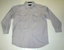 Orvis Mens Gray Button Up Vented Long Sleeve Shirt