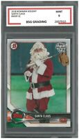SANTA CLAUS #WHP-SC 2018 BOWMAN HOLIDAY~ BSG Graded 9