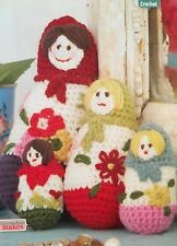 CROCHET PATTERN 4 MATRIOCHKA Poupées Russes Jouet Floral 4 Tailles 22 cm DK Motif