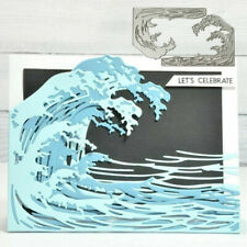 Sea Wave Cutting Dies Stencil DIY Scrapbooking Embossing Paper Album Card Craft