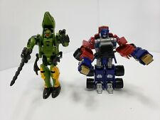 Transformers Lot of 2  - Optimus Prime Truck & Green Dinosaur
