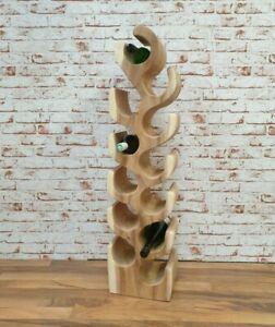 Weinregal Weinständer Teak Unikat Holz Massiv Natur Flaschenständer Antik 100cm
