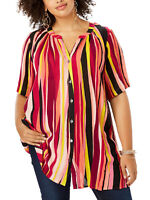 Roamans ladies blouse top shirt plus size 20 22 24 26 28 30 crinkle fabric