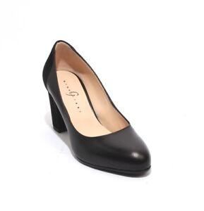 Gibellieri 3297 Black Leather Suede Elegant Classics Heel Pumps 40 / US 10