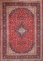 RED 8X12 Area Rugs Traditional Floral Authentic Hand-Knotted Wool Carpet