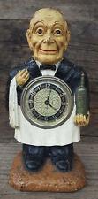 New ListingAntique Lux Figural Clock - Waiter/Sommelier