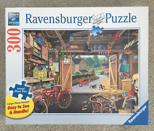 RAVENSBURGER GRANDPA's GARAGE 300 Piece Large Format PUZZLE Germany Excellent