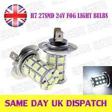 24V H7 27 LED SMD Fog Light bulbs Xenon White (Pair)