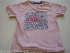☆ Girls Pink Whale Print 100% Cotton Short Sleeved T-Shirt Top Age 5-6 years ☆