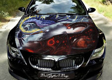 Dragon Hood Full Color Graphics Wrap Decal Vinyl Sticker Fit any Car #164