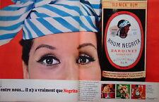 PUBLICITÉ 1966 RHUM NEGRITA OLD NICK RUM BARDINET BORDEAUX WEST & EAST INDIES