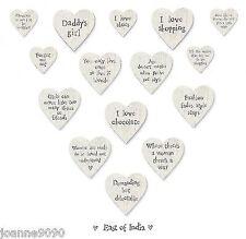East Of India Small Wooden Heart Shaped Fridge Magnet I Love Shopping Mum Gift