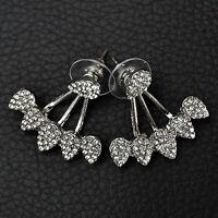 1Pair Fashion Women Lady Elegant Crystal Rhinestone Ear Stud Drop Shape Earrings