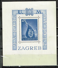 Croatia-Germany Axis WW2 Ustashe Souvenir Sheet 1943 MNH CV $55