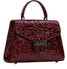 Patricia Nash Casotta Tooled Leather Top Handle Satchel Oxblood-Nwt-Orig.$180
