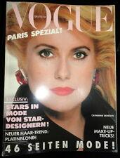 Vtg Vogue Deutsch 8/1985 Anouk Aimee Kristen McMenamy Ines de la Fressange