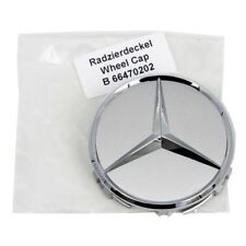 ORIGINAL Mercedes Nabendeckel Nabenkappe Felgendeckel Ø 75 mm SILBER 66470202