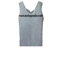 Aluminium Butted 9 mm 16 gauge Chain mail Vest For Men Cosplay Role Wear Anodize