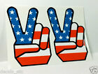 1960's PEACE SIGN x 2 Vintage Style Vinyl DECAL/Sticker, hippie, rat rod, racing