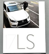 ORIGINAL 2017 LEXUS LS 460 & 460 F SPORT SALES BROCHURE ~ 42 PAGES ~ 17LEXLS