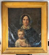 Antiqu Portrait Oil Painting on Canvas With Frame