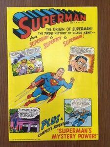 Superman Record Comic ORIGIN [Golden Story Record Teller] #nn 1966 DC HIGH GRADE