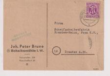 Bizone/AM-Post, Mi. 12z EF, Schalksmühle/Westf., 25.3.46, re Einriss/Bug