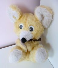 """Vintage Mothercare Mouse Teddy Bear Soft Plush Stuffed Toy 7"""" Cream Beige 0348"""