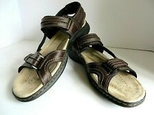 DOCKERS NEW MENS COMFORT SANDALS  LEATHER UPPERS COLOR BROWN SIZE 12