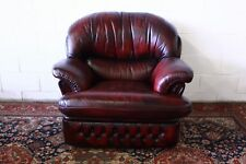 Poltrona chesterfield chester bergere inglese pelle BORDEAUX original