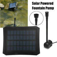 Solar Power Fountain Pool Water Pump Kit Timer/LED Light Garden Pond Submersible