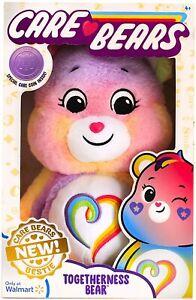 Care Bears 2021 Togetherness Bear 35cm Rainbow Plush Bestie Soft Toy New