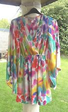 H&M Garden Collection kaftan tunic with huge billow sleeves - size 12 UK