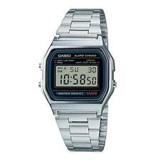 Casio A158W watch Vintage Retro Silver Stainless Steel Digital Unisex Watch