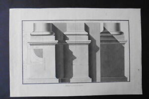 FRENCH NEOCLASSICAL SCHOOL 1817 - STUDY CLASSICAL ARCHITECTURE - INK DRAWING