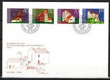Liechtenstein - 1975 European monument year - Mi. 630-33 clean FDC