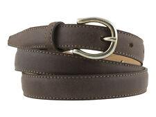 Cintura donna camoscio vetrato marrone cinturino artigianale 2cm altezza