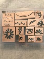Stampin Up Watercolor Garden Set Of 13 Wood Mounted Rubber Stamp Su Scrapbooking