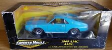 1/18 ERTL AMERICAN MUSCLE 1969 AMC AMX BLUE with BLACK STRIPES gd
