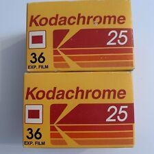 2 X Kodachrome 25 36 Exp 35mm Quality  Colour Slide Film
