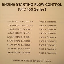 Lucas Rotax Engine Starting Flow Control SFC-100 Series Overhaul & Parts Manual
