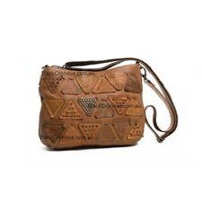 Erin Triangle Leather Bag, Genuine Leather Handbag, Oran Handbag, Tan Bag.