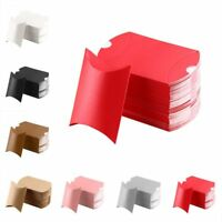 10/50pcs Pouch Xmas Kraft Gift Bag Christmas Pillow Shape Paper Candy Boxes