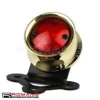 CNC Brass Motorcycle Brake Stop Taillight With License Plate Lamp For Harley