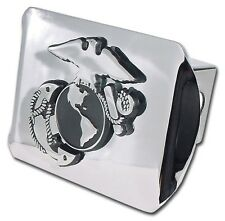 Marines Insignia Chrome on Chrome Trailer Hitch Cover High Quality Made in USA!
